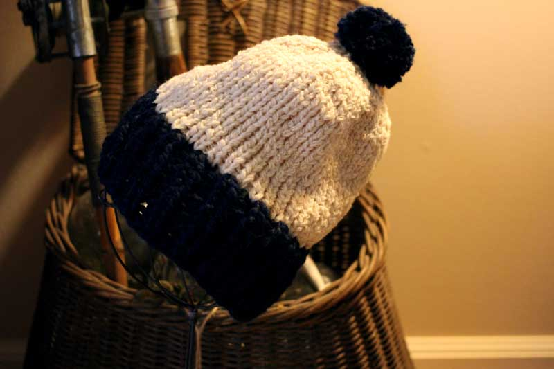 hat made from recycled cashmere
